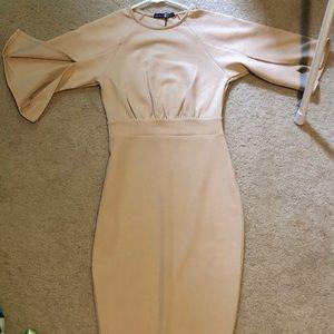 Nude Boohoo Dress